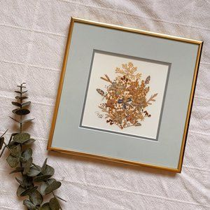 Pressed Flowers Framed Art